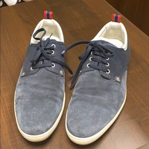 Louis Vuitton navy suede sneakers size 12 us